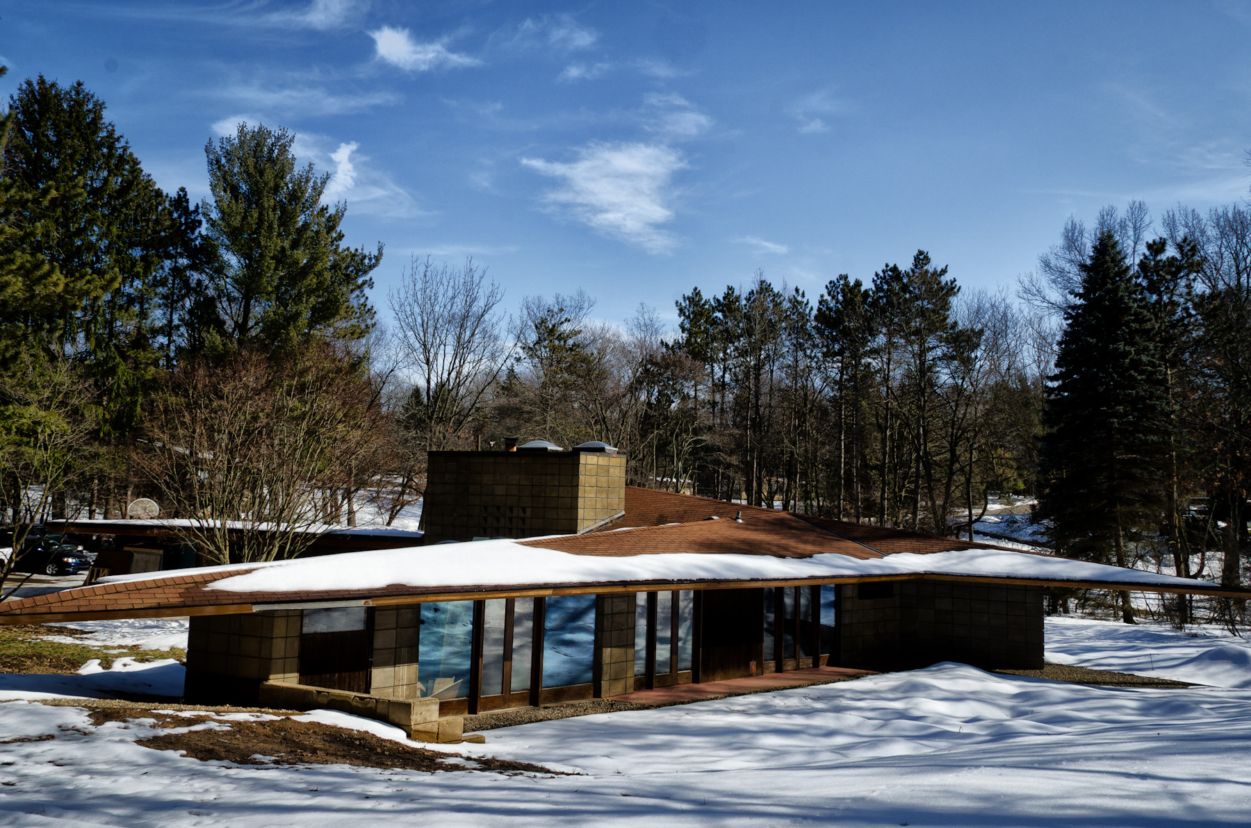 The magnificent frank lloyd wright designs midcityeast for Frank lloyd wright usonian home plans