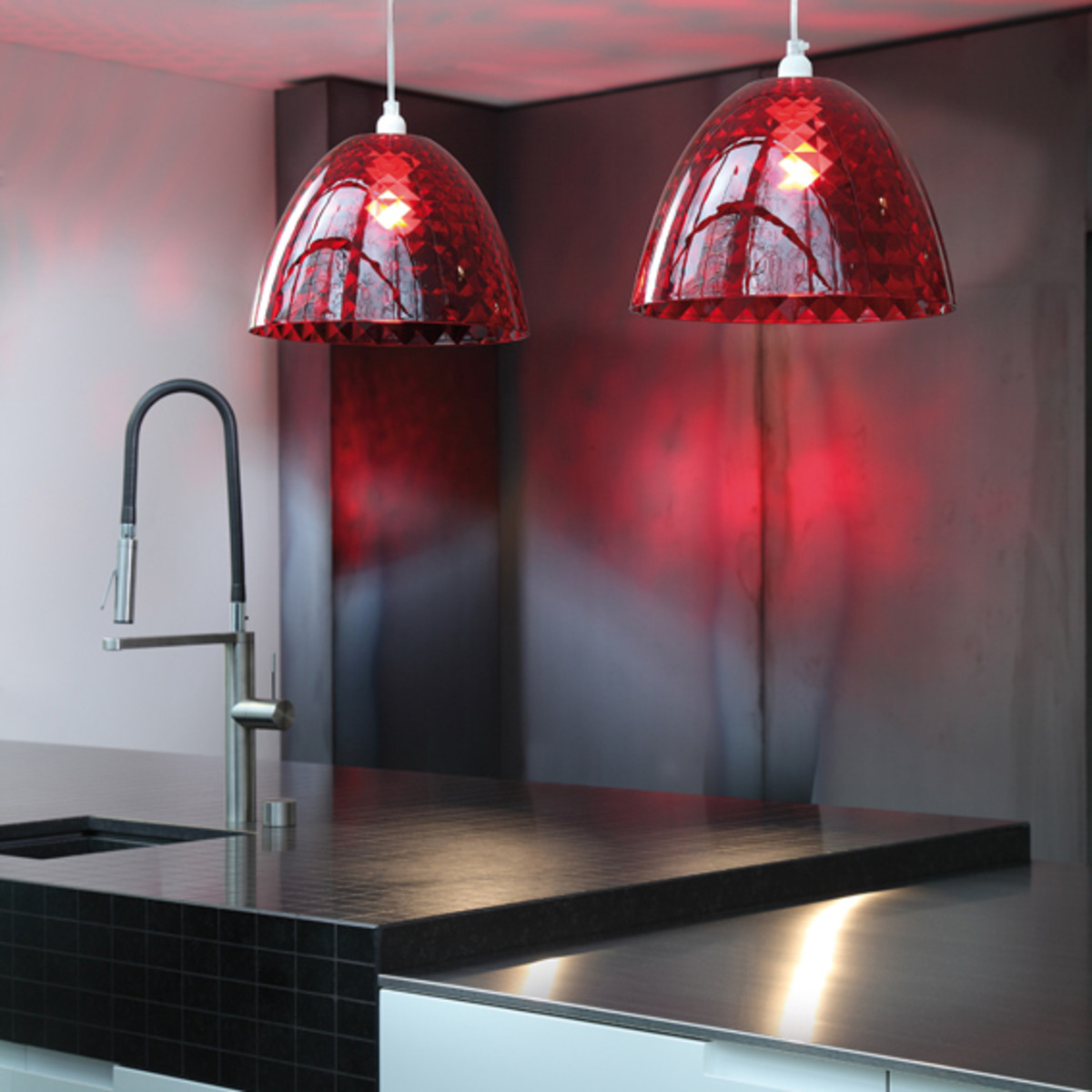 red pendant light 11