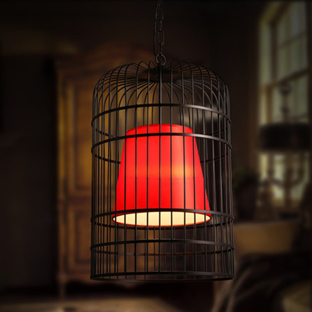 red pendant light 12