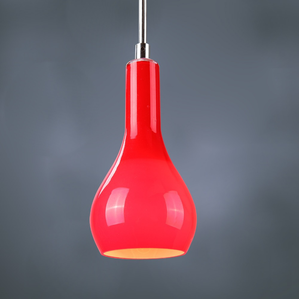 red pendant light 6
