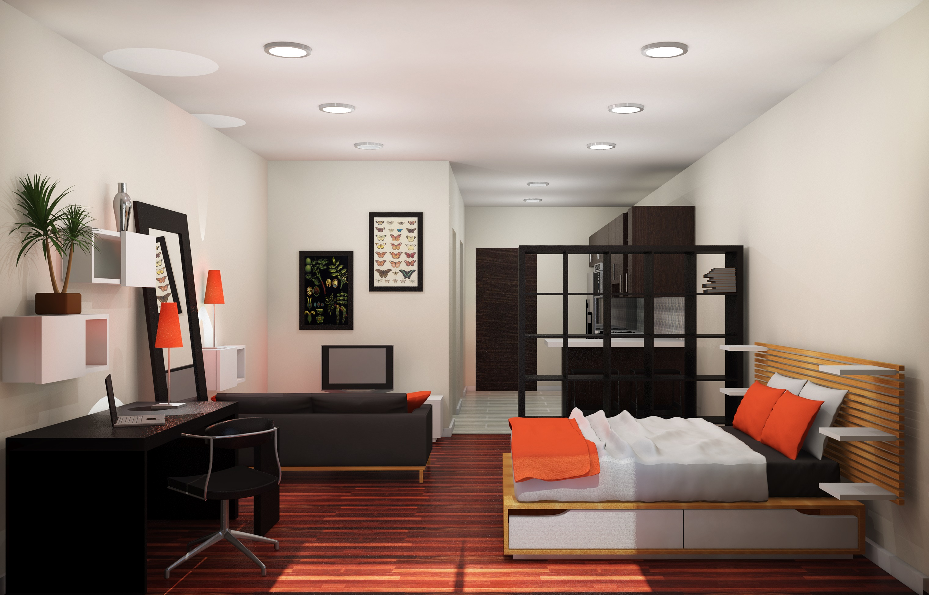 Working with a studio apartment design midcityeast for Apartment decorating