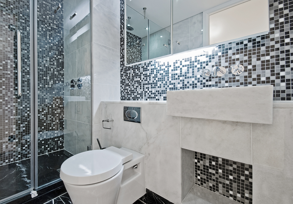 Eye Catching Black, White and Grey Tile Ideas for Shower Wall and Vanity  Backsplash