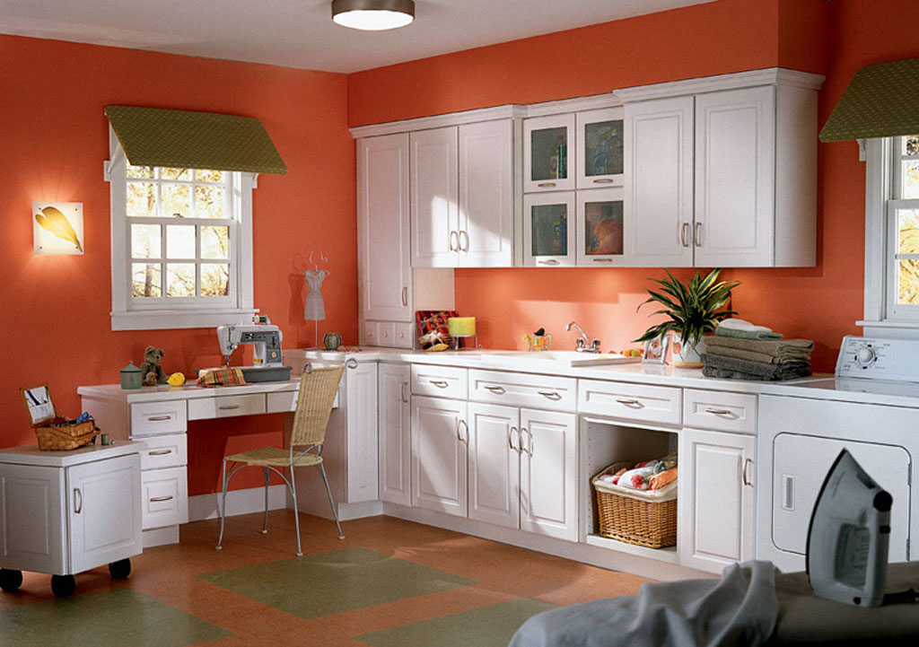 Exceptional White Kitchen Orange Accents Some Considerations When Building Your Own Craft  Room Ideas