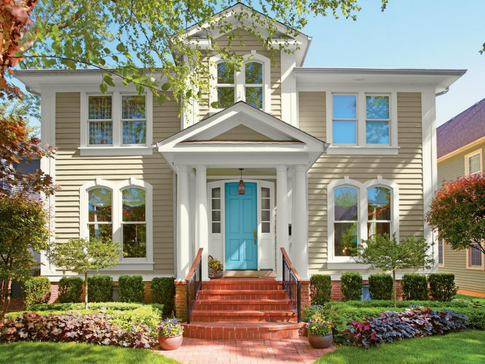 What exterior house colors you should have midcityeast Front door color ideas for brick house