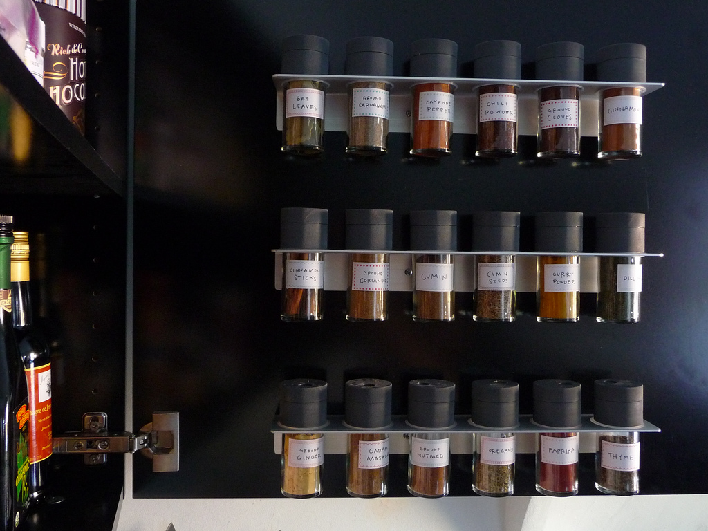 Exceptionnel Alluring Wall Mounted Spice Rack Ideas Made From Stainless Steel Suitable  For Minimalist Kitchen