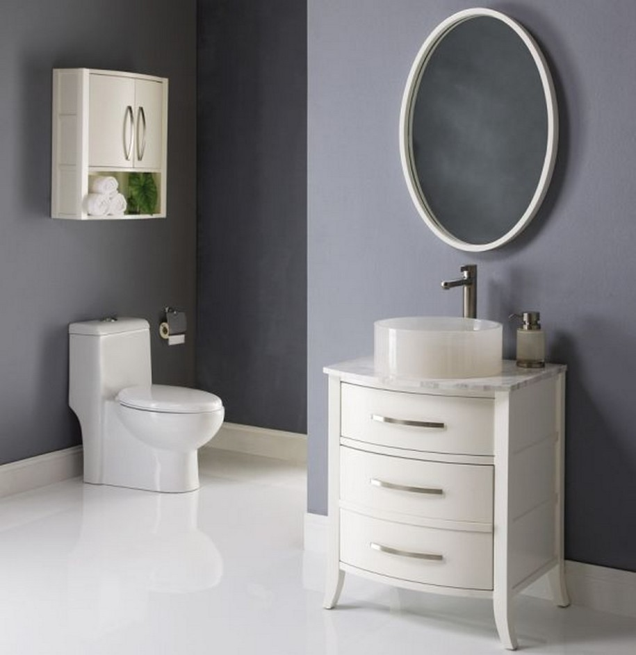3 simple bathroom mirror ideas midcityeast for Bathroom double vanity designs