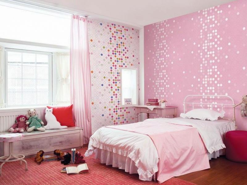 Merveilleux Beau Appealing Pink And Colorful Wall Decor To Live Up The Girl Bedroom  Interior Look