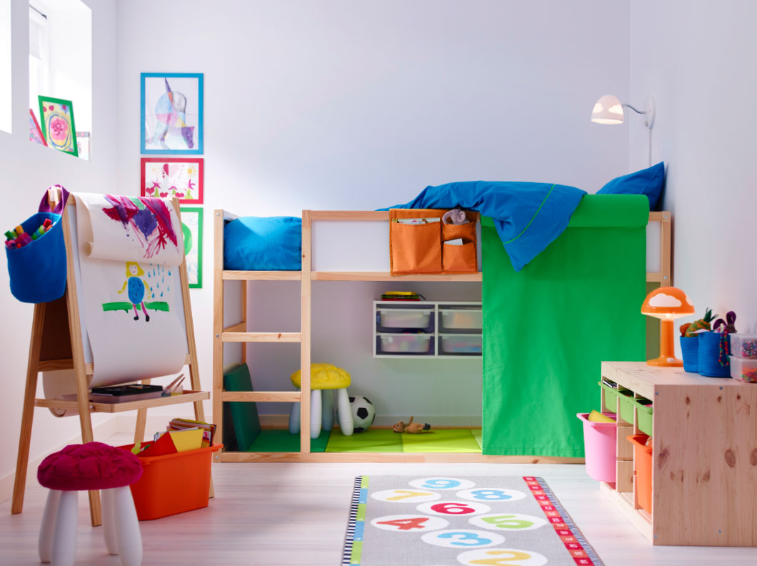 Superieur Artistic Kids Bedroom Ideas With Beautiful Colors Combination And  Light Wood Furniture