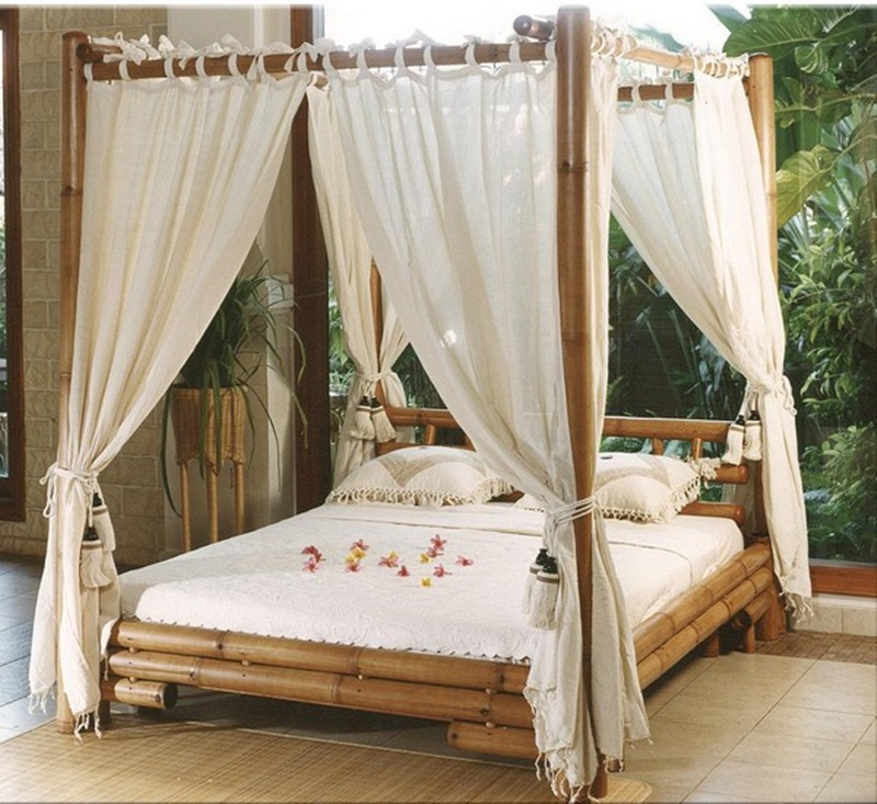 Sleep Like a Royal Family in a Canopy Bed Frame - MidCityEast