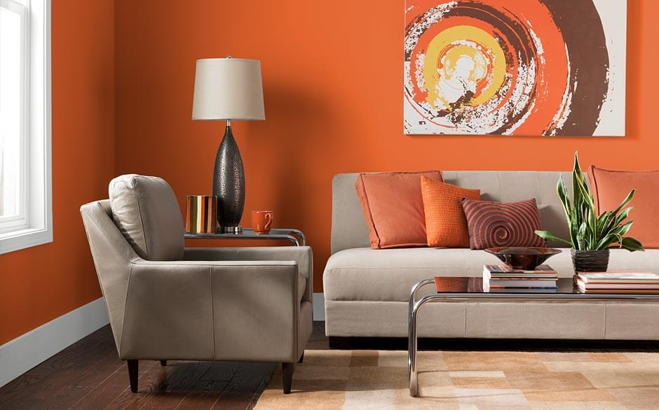 Interesting Living Room Paint Color Ideas: Bold Wall Painted Living Room Colors