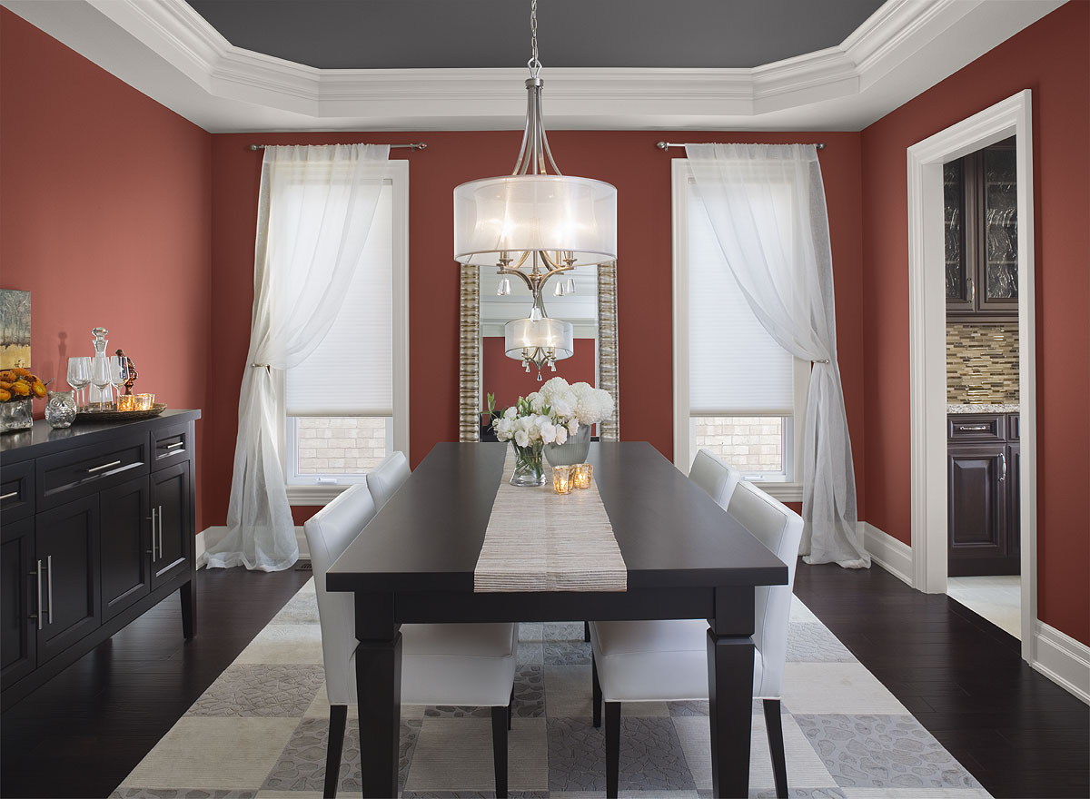 Paint colors for dining room with dark furniture