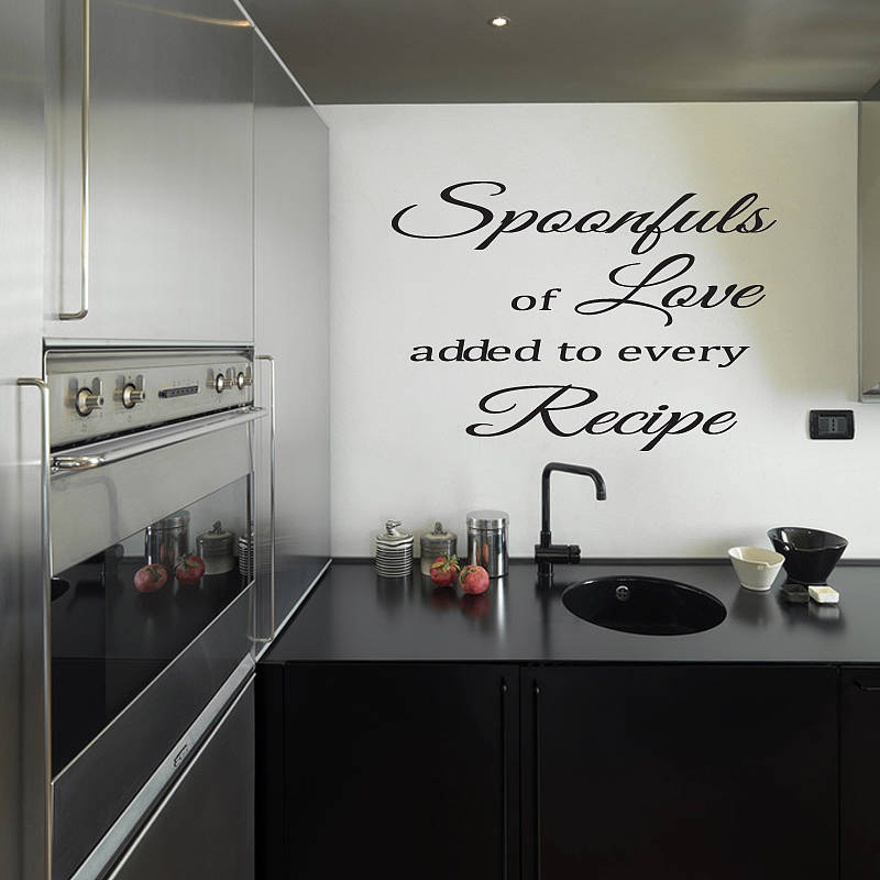 Image gallery kitchen wall decor images for Black kitchen wall decor