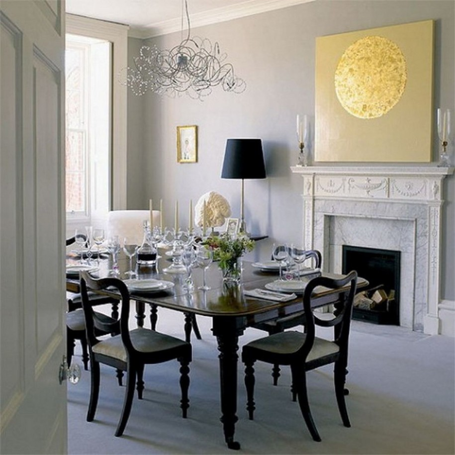 Selecting the right chandelier to bring dining room to for White dining room decor