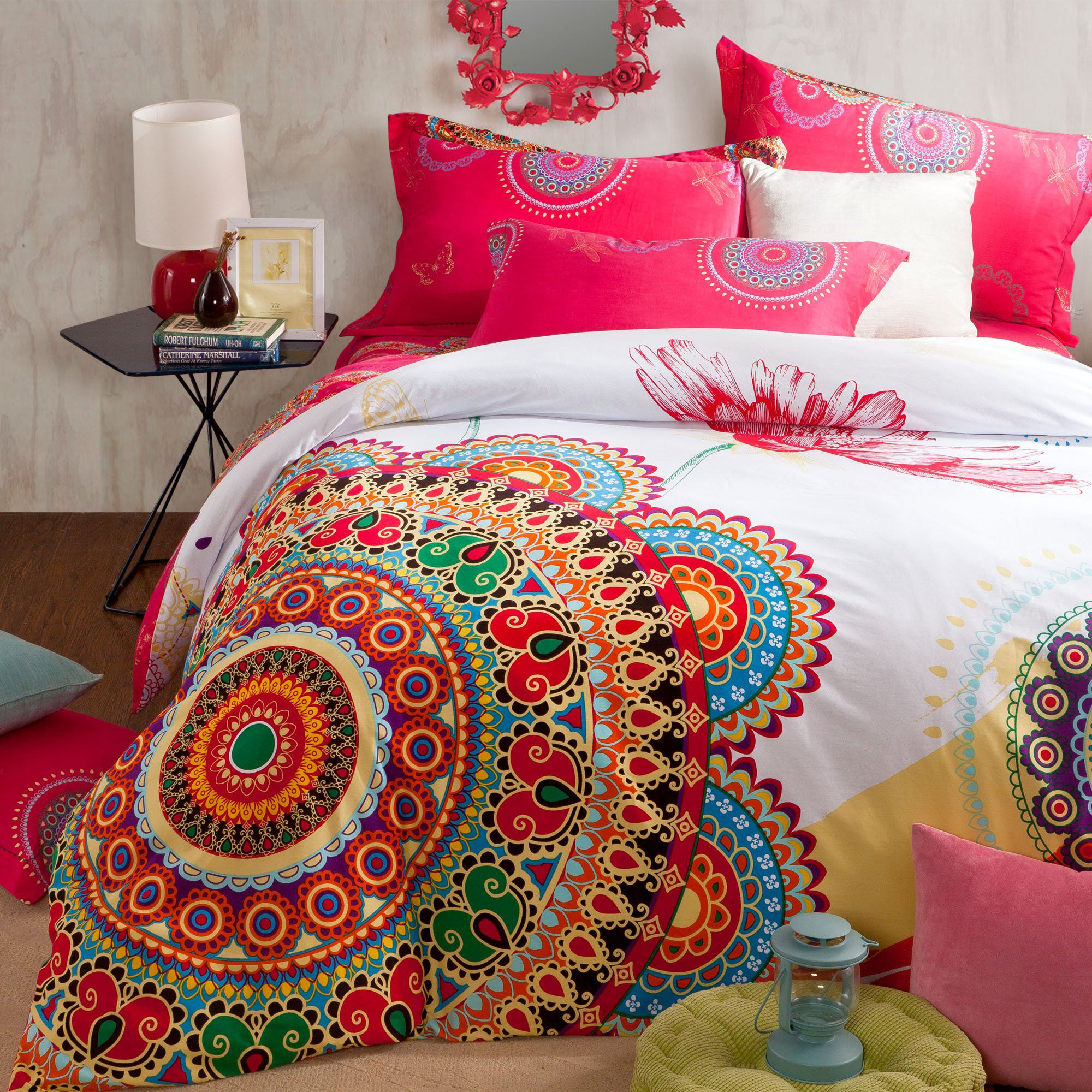 Most Beautifull Deco Paint Complete Bed Set: Bohemian Bedroom Decorating Ideas