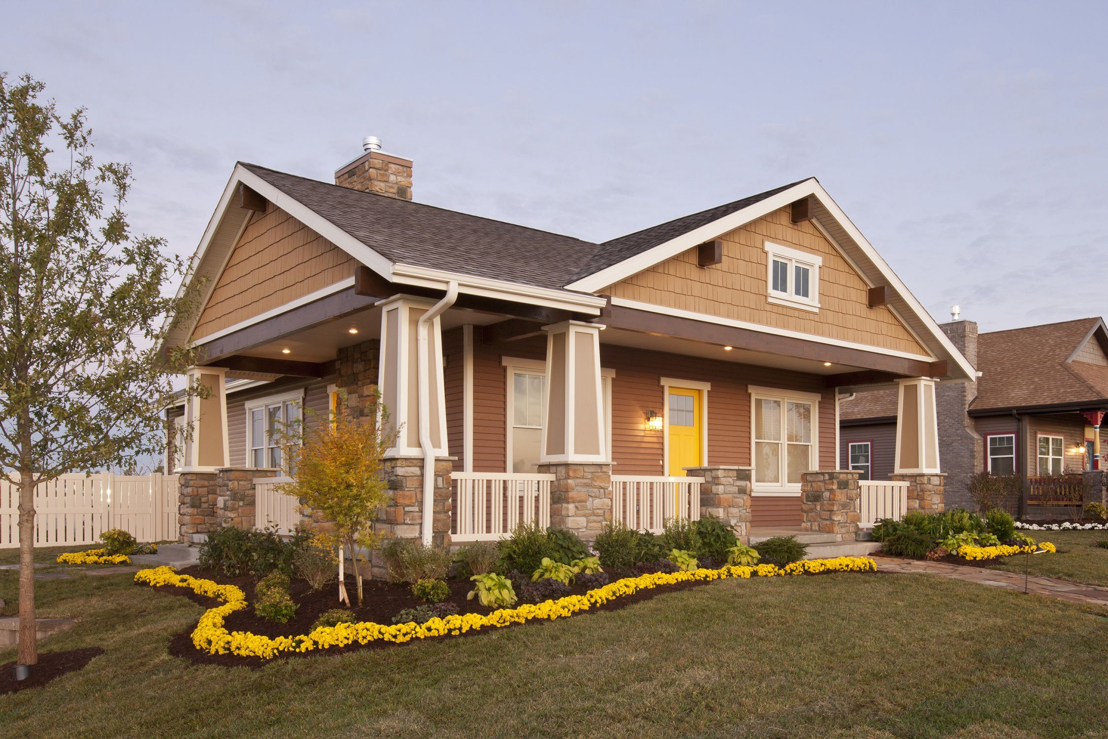 Home exterior colors yellow the image Which color is best for home