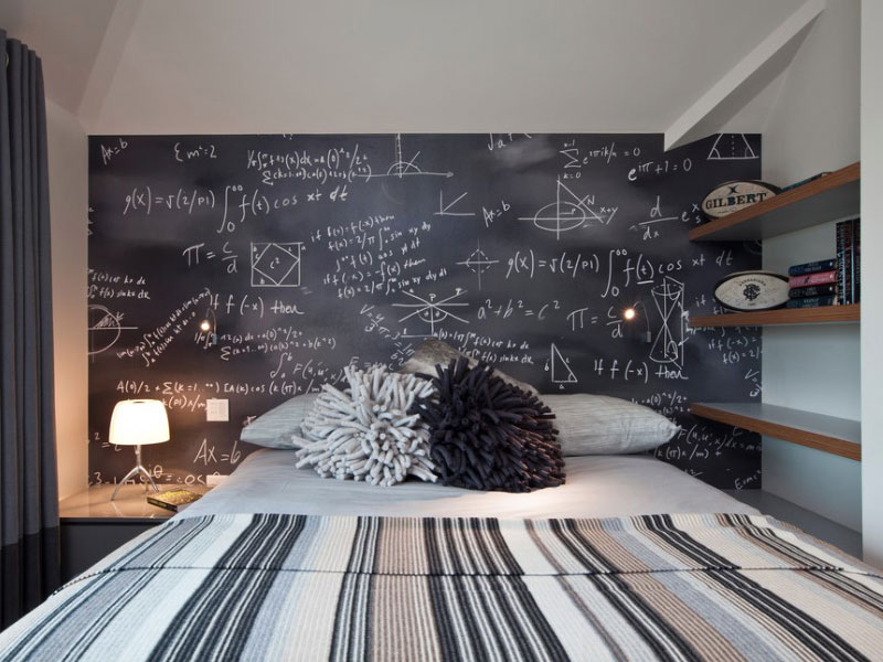 Charmant Charming Chalk Wall For Teenage Bedroom Ideas With Specific Decoration