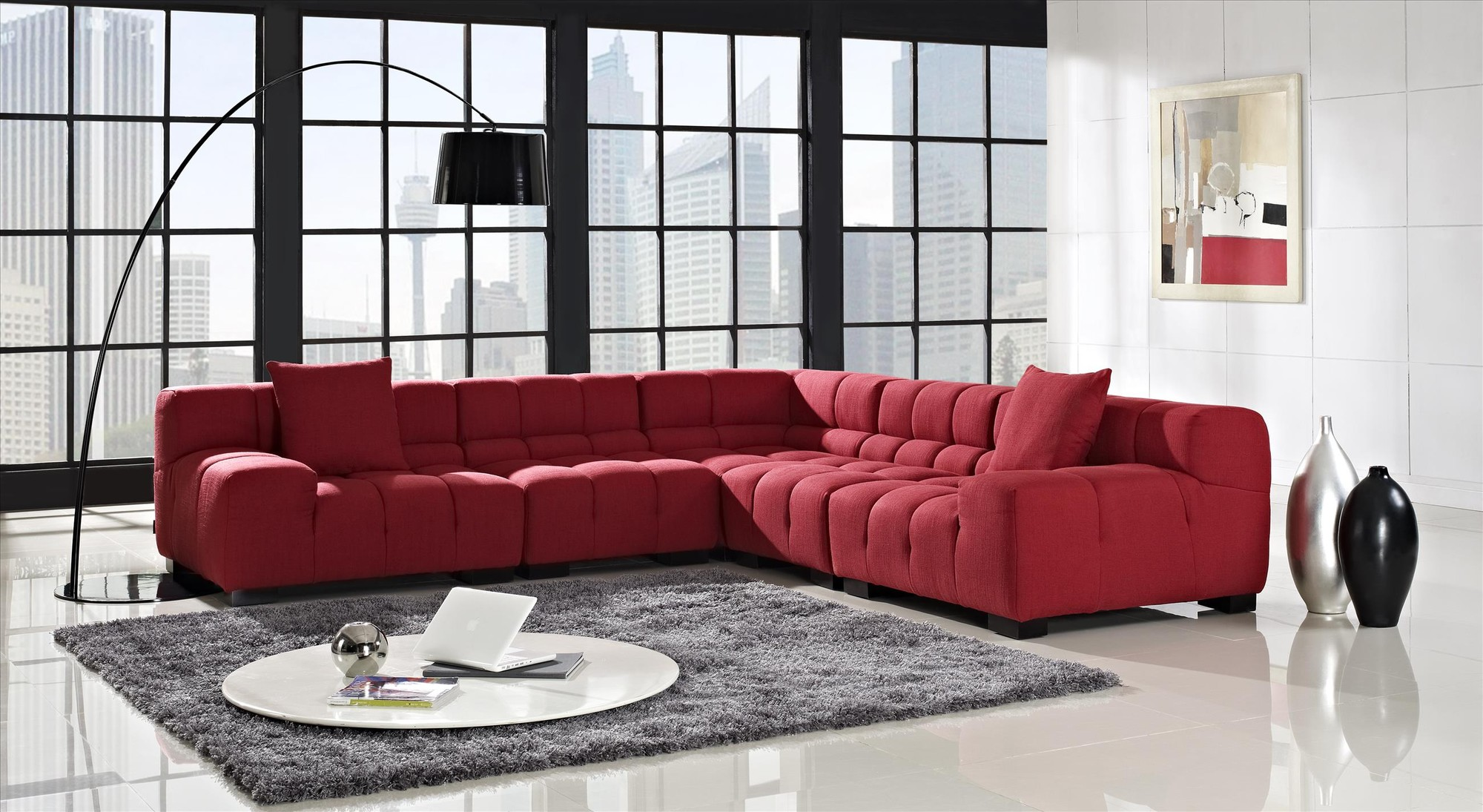 how to choose modern sectional sofas for your home midcityeast. Black Bedroom Furniture Sets. Home Design Ideas