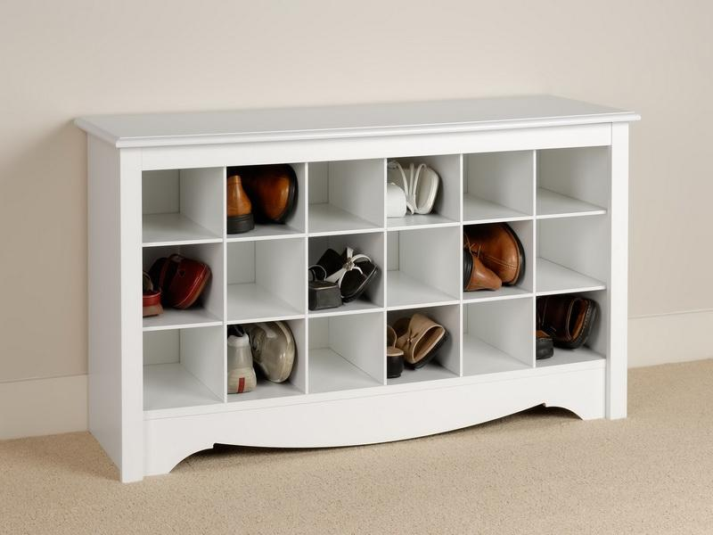 Exceptionnel Classic Style Shoe Storage Idea In White To Also Provide Flat Surface On  Top To Keep