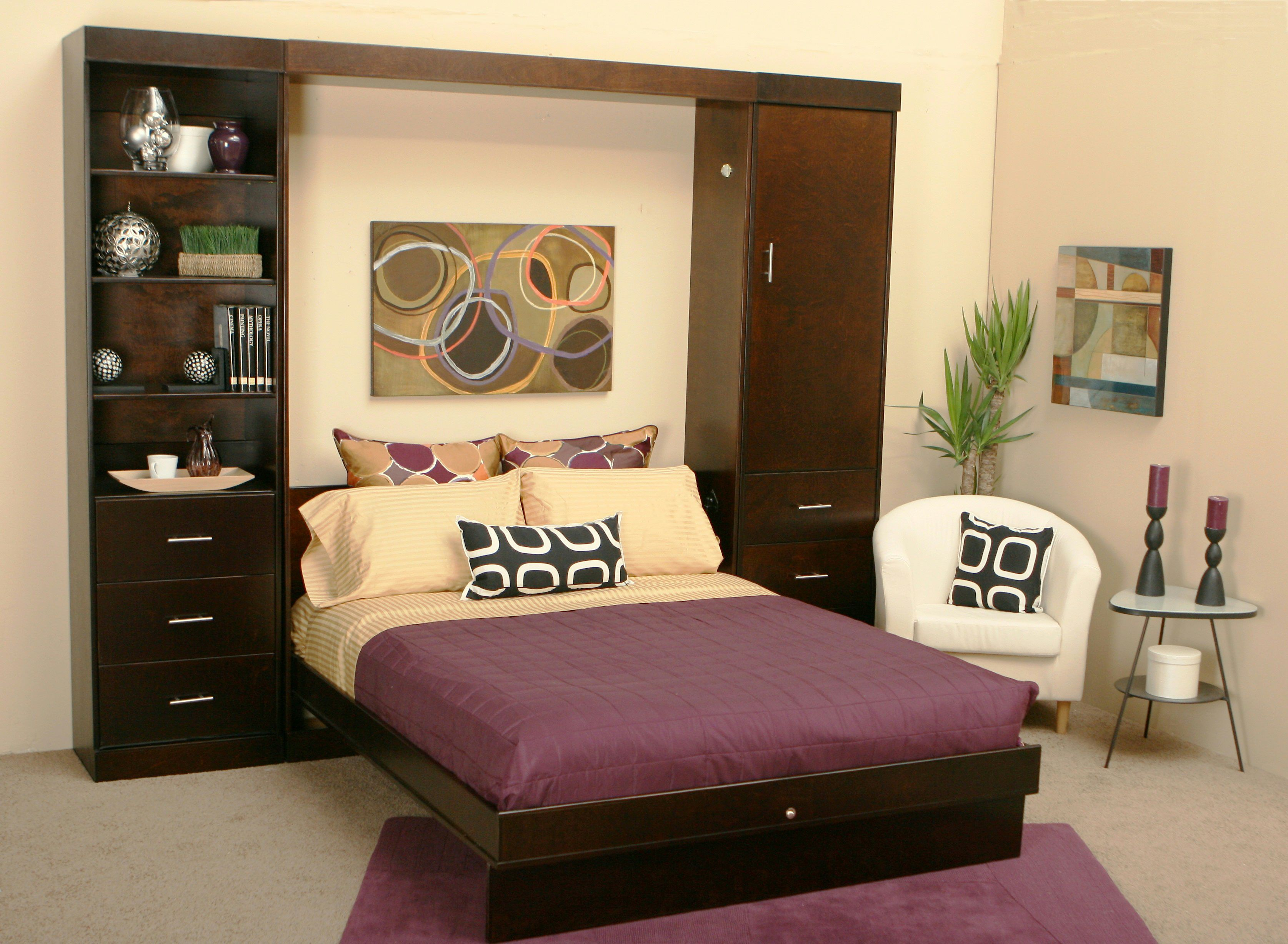 Complete Comfy Bedroom With Solid Oak Living Spaces Furniture And White  Sofa On Granite Tile Flooring