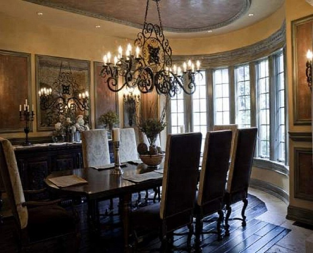 Selecting the right chandelier to bring dining room to for Dining room pictures