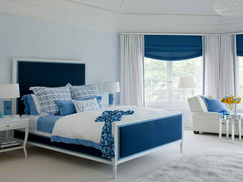 Incroyable Confidence Look Presented By Bold Blue Touches For Bed And Valances For Girl  Room