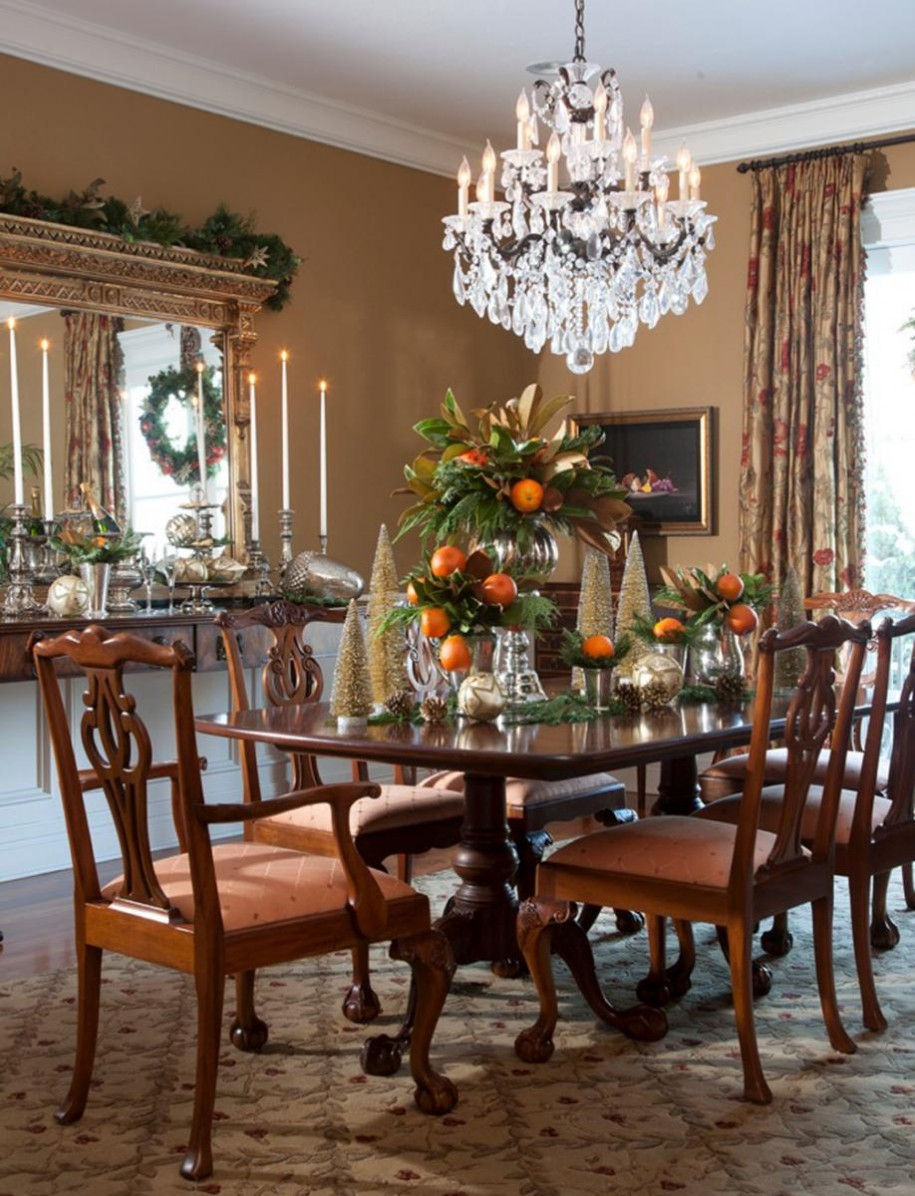 Selecting the right chandelier to bring dining room to for New traditional dining room