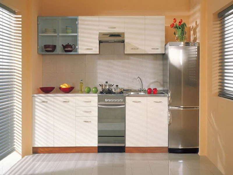 Cute Simple Cabinets For Small Kitchen Ideas Gallery Dominated by White Color