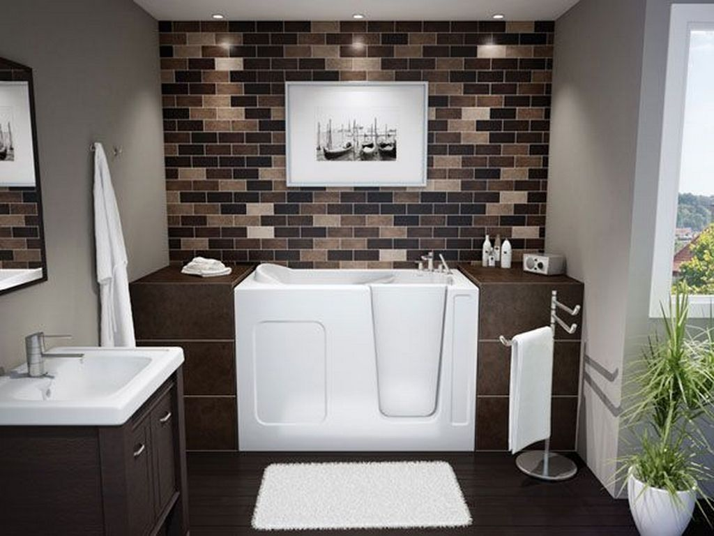 Excellent Color Scheme in White and Grey Combination for Small Bathroom Interior