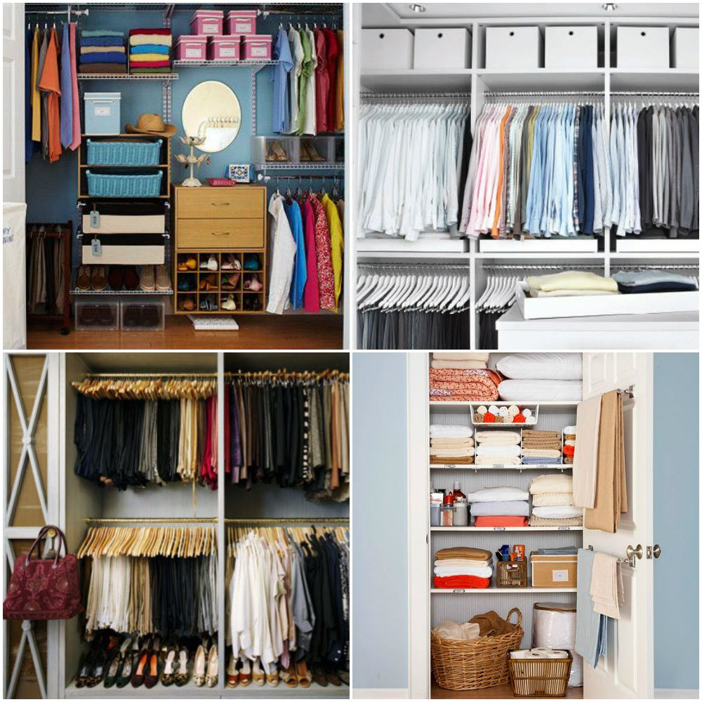 Functional closet organization ideas for small space for Organizing ideas for closets