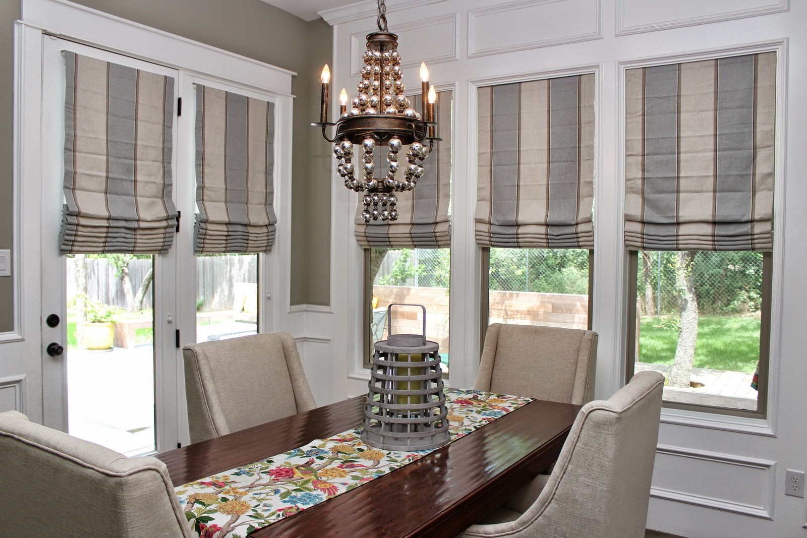 Glass Door and Window Treatments with Unique Grey Vertical Blinds