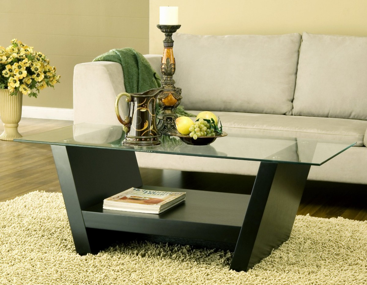 Glass Top for Stunning Coffee Table with Storage inside Comfy Room with Long Sofa