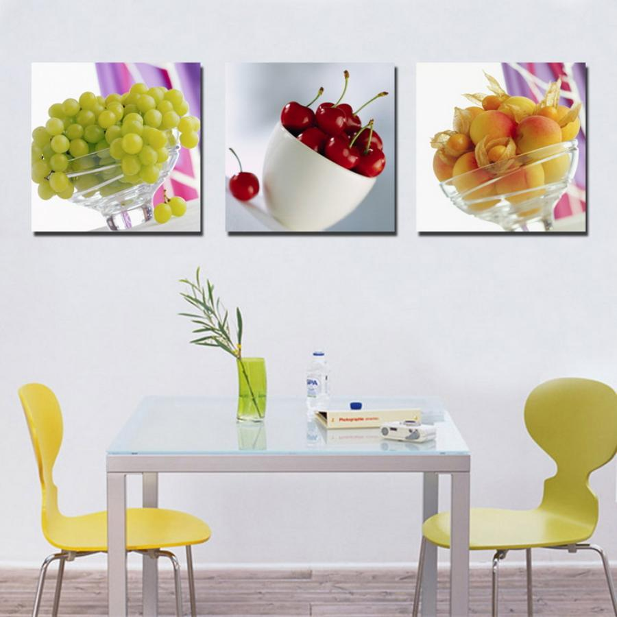 High Quality Charmant Insert Enchanting Kitchen Wall Decor For Small Dining Area With  Yellow Chairs And Simple Glass
