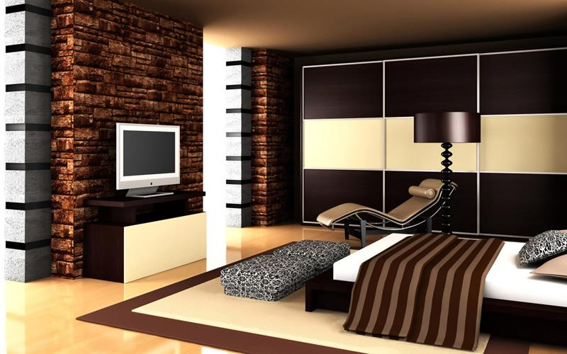 Luxury Modern Master Bedroom Ideas with Relaxing Chaise and Patterned Bench