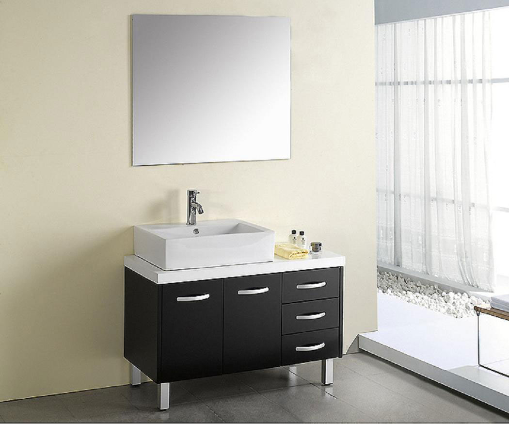 3 simple bathroom mirror ideas midcityeast for Modern contemporary bathroom vanities