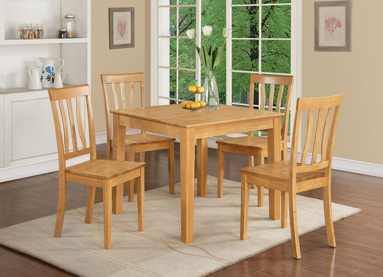 Square Oak Kitchen Table