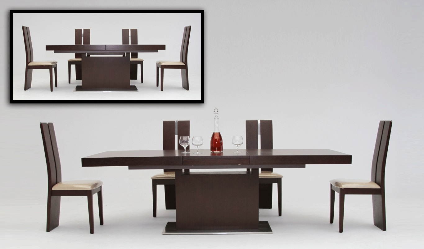 Merveilleux Modern Dining Table And Appealing Chairs For Formal Dining Table With White  Flooring And Wall