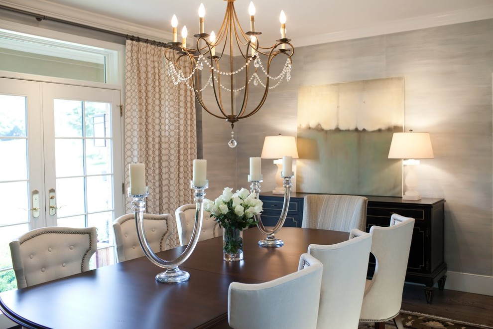 Selecting The Right Chandelier to Bring Dining Room to  : Oversized Dining Room Chandeliers above Solid Oak Table and White Tufted Chairs in Formal Room from midcityeast.com size 990 x 660 jpeg 130kB