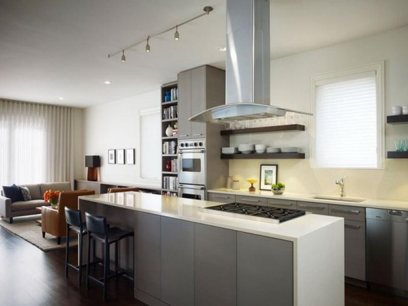 Perfect DIY Kitchen Cabinets Painting to Present Grey Accents to Meet the White Room Painting