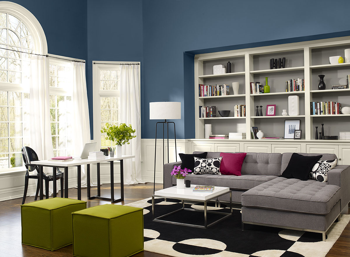 Place Grey Tufted Sofa Chaises And Green Ottomans Inside Comfy Living Room  Colors Idea Part 9