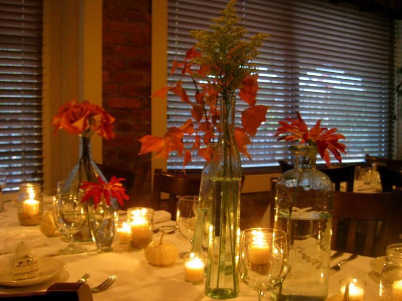 Romantic Party Decoration Idea with Long Table Covered with White Table Cloth Decorated with Candles
