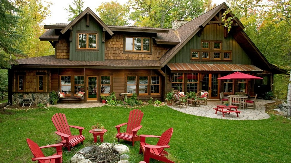 What exterior house colors you should have midcityeast Homes with lots of beautiful natural wood