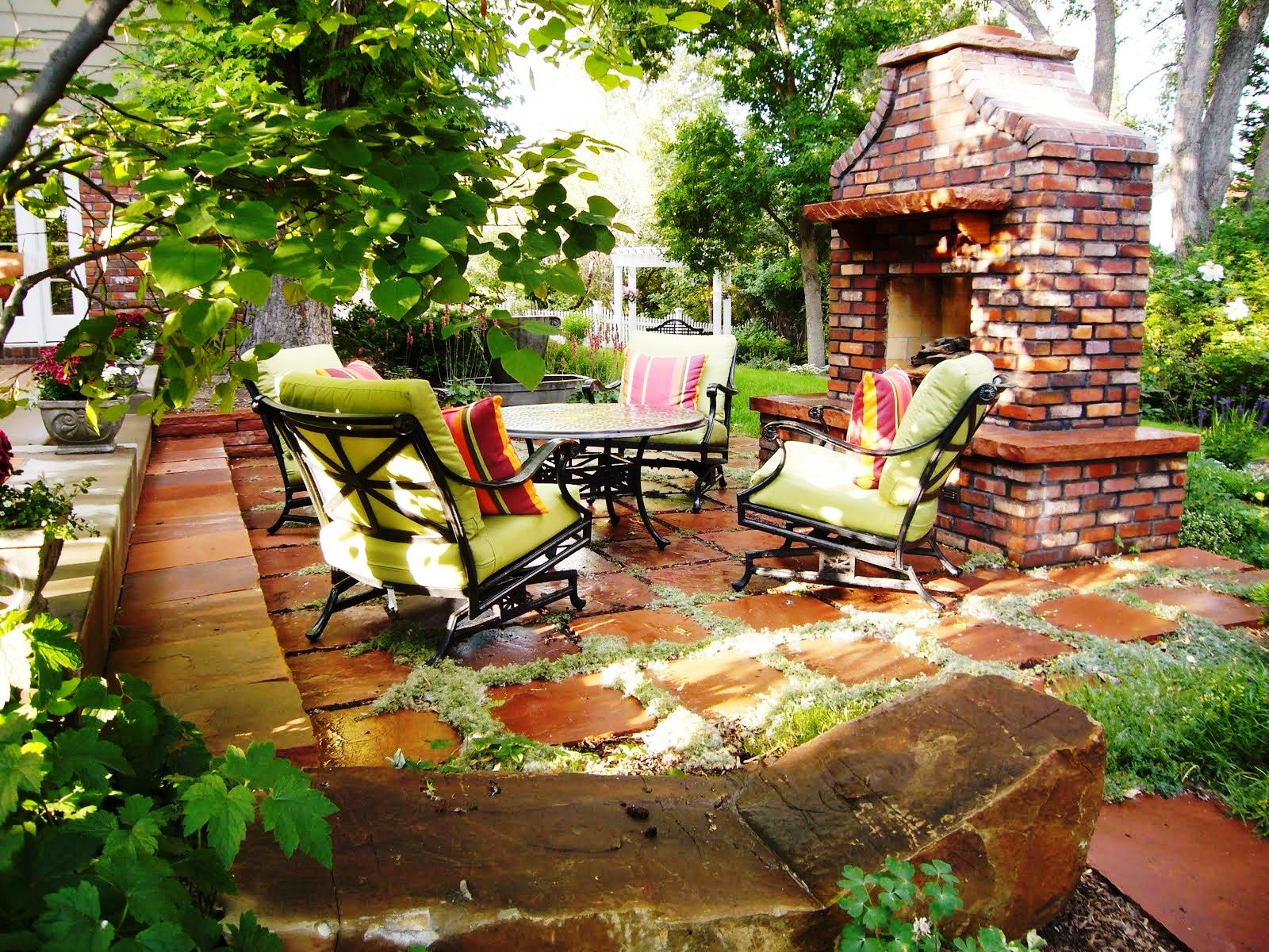 Simple Backyard Patio Ideas On A Budget With Fireplace And Greens
