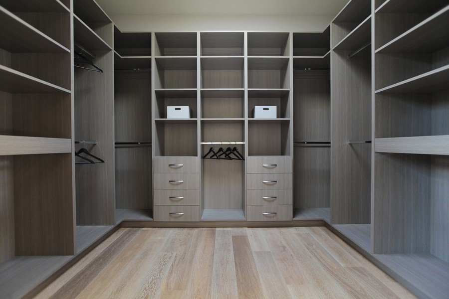 Sleek Wooden Floor and Wood Look Storages to Keep and Display Fashion Stuff