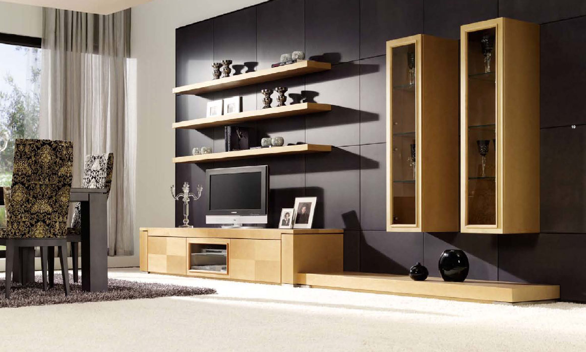 Smart Wall Storage Idea to Complete Modern Living Room Interior