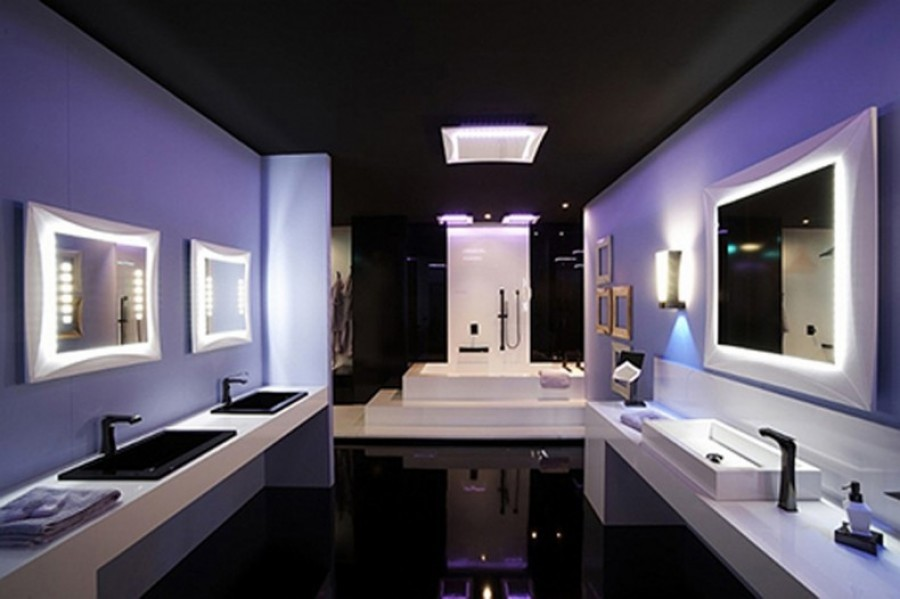 Smooth Bathroom Lighting Ideas From The Wall Mirrors Completed With Modern  Sconces
