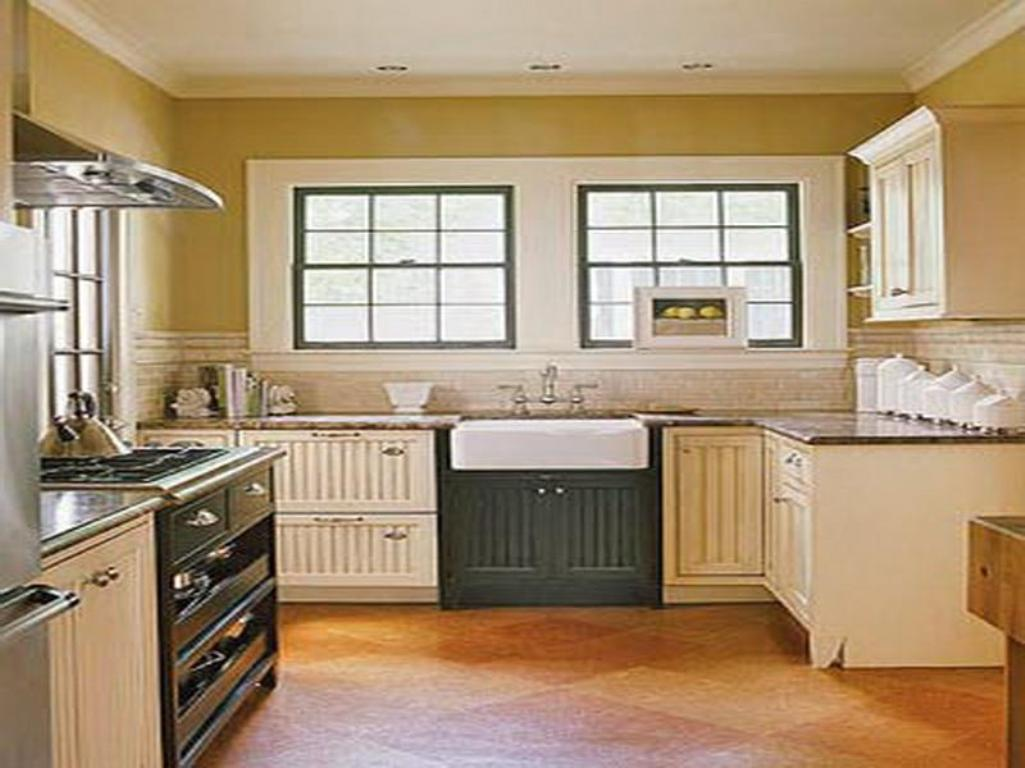 Traditional Kitchen with Tricky Floor Plan Adapting the Architectural Design with Windows and Door