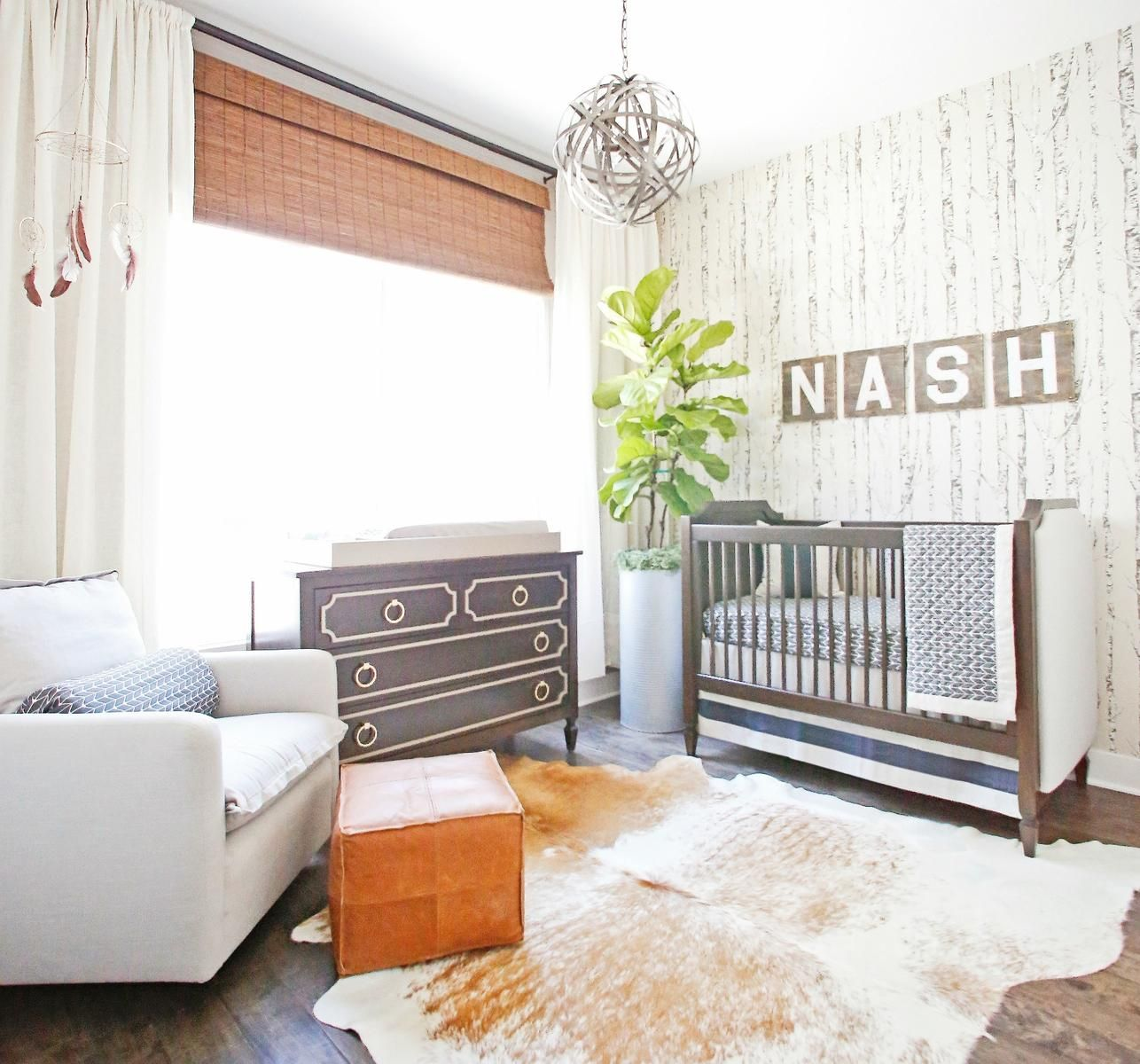 Undeniable Wall Decal With Nash Print Creating A Character Of Baby Nursery Interior