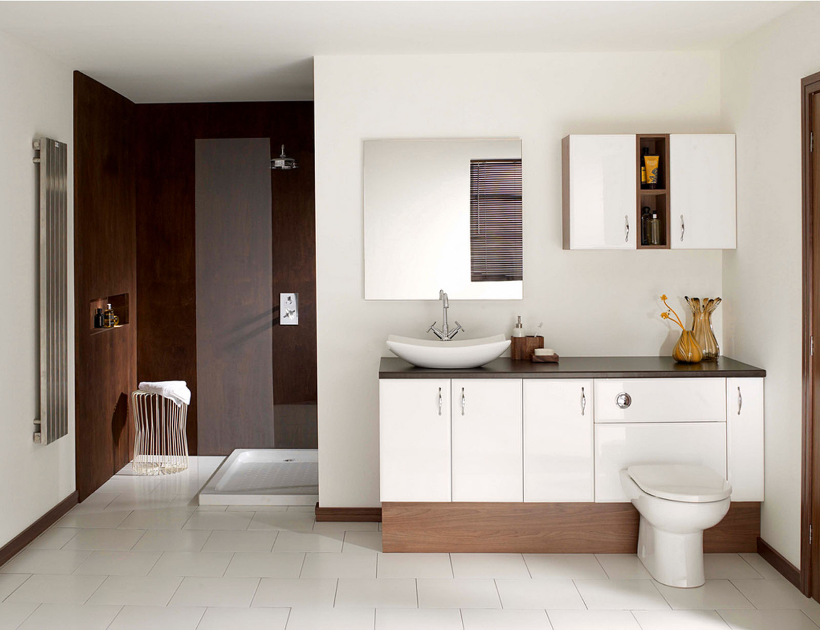Vanity Area with Perfect Storage System Completed with above Cabinet and Mirrored Cabinet