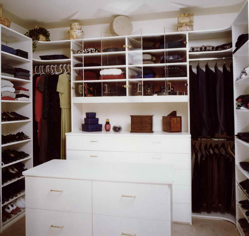 White Dresser And Closd Shelves For Brilliant Closet Organization Ideas  With White Shoes Shelves