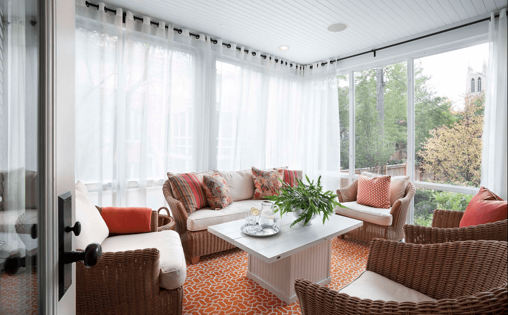 White Sheer Curtains to Block Sunlight Suitable for Ample Window Treatment of Living Space